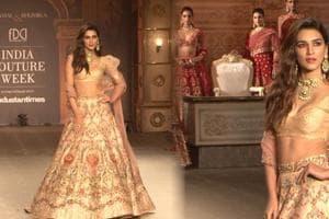 India Couture Week 2019: Kriti Sanon walks for Shyamal and Bhumika