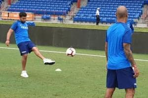 India vs West Indies: Kohli and Co play football in training ahead of first T20I