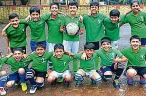 Students participate in football tournament