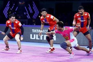 ProKabaddi League 2019:UPYoddhas beat table-toppers Jaipur Pink Panthers 31-24