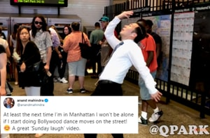 Video of New Yorker dancing to Bollywood hits in public impresses Anand Mahindra