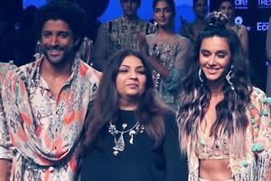 LFW 2019 | Farhan Akhtar, Shibani Dandekar walk the ramp for Payal Sing...