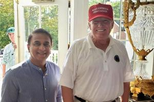 Sunil Gavaskar meets US President Donald Trump during charity fund-raising trip