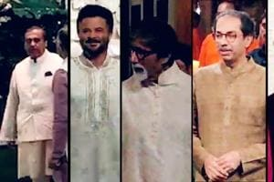 Ambanis celebrate Ganesh Chaturthi; Bachchans, Sachin attend