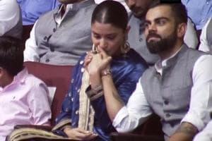 Watch: Virat Kohli & Anushka Sharma steal a moment at a Delhi event