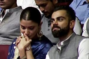 Anushka Sharma showers Virat Kohli with kisses, gets emotional on hearing story about his father's death- Watch video