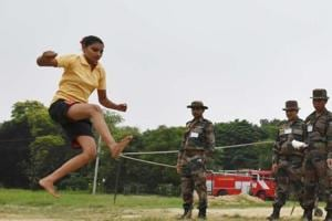 300 women candidates from UP and Uttarakhand  take part on final day of recruitment for military police