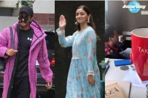Alia Bhatt sits down with Ranveer Singh, Karan Johar for Takht prep, shares a glimpse of their brainstorming session- See pic