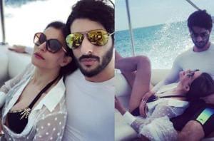 Sushmita Sen relaxes in boyfriend Rohman Shawl's arms in a bling bikini, he calls it 'bliss'- See pics