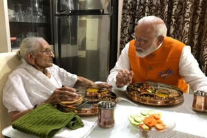 On birthday, PM Modi meets mother over lunch, seeks blessings