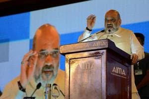 Amit Shah takes a dig at Congress, lauds PM Modi for his decisiveness