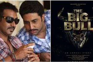 The Big Bull poster: Abhishek Bachchan begins work on upcoming Ajay Devgn production- See pic