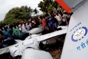 DRDO's unmanned aerial vehicle crashes in Karnataka, no injuries report...
