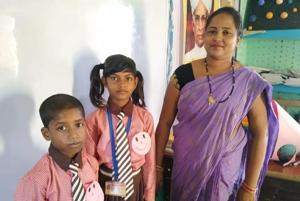 Kids coming to this govt school neatly dressed get Smiley badges