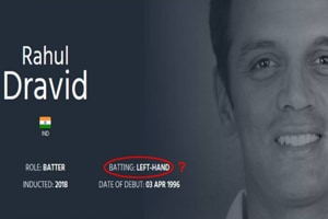 Meet Rahul Dravid the left-handed batsman! It's not us, it's the ICC