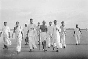 Staff in hand, the Mahatma walked every day of his life---