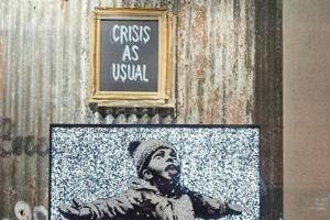 PHOTOS: Art fans rush to visit street artist Banksy's pop-up shop amidst trademark dispute