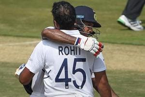India vs South Africa 1st Test: Ton-up Rohit powers hosts to 202/0 on Day 1