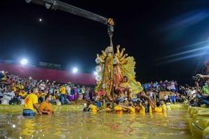 PHOTOS: Bidding goodbye to Goddess Durga