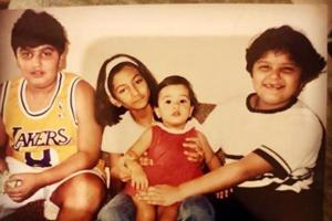 Arjun Kapoor shares cute throwback pic with Rhea, Anshula and baby Janhvi Kapoor- See here