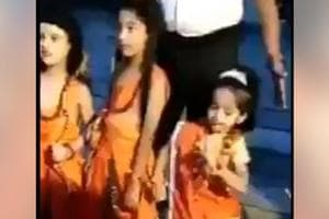 Little girl dresses up as Sita and does this- Adorable video wins Twitter