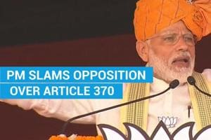 'Dare Article 370 proponents to explain its advantages in Haryana': PM ...
