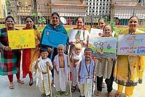 Skits, rally and fancy dress to remember Gandhi's legacy