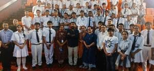 Students of Ramjas School Delhi interact with Anand Kumar