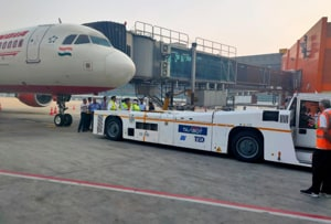 Air India world's 1st airline to use TaxiBot on A320 plane with passengers