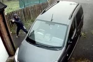 He threw a brick at a car, it bounced and hit his face- Internet calls it instant karma