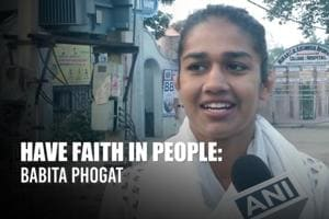 Haryana polls: 'I have faith in people,' says BJP candidate Babita Phog...