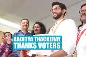 'Thank people for blessing me with so many votes': Aaditya Thackeray