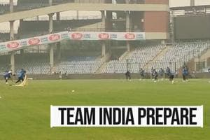 India Vs Bangladesh T20I: Team India hit the nets amid pollution concer...