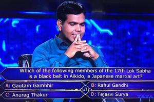 Kaun Banega Crorepati's question related to Rahul Gandhi attracts tweet from Tejasvi Surya- Here's why