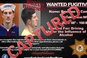 Fugitive asks cops to add costume to his pic, they oblige- Then he does this