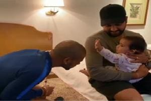 Shikhar Dhawan shares adorable video of Rohit Sharma's daughter- Watch