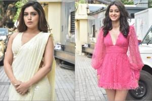 Ananya Panday, Bhumi Pednekar spotted in contrasting looks as the 'patni' and the 'woh'