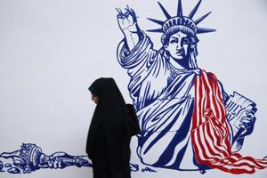 Photos| Anti US murals are the new facade of ex-US embassy in Tehran is