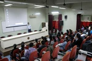 Startup entrepreneurs interact with school students at India International Science Festival