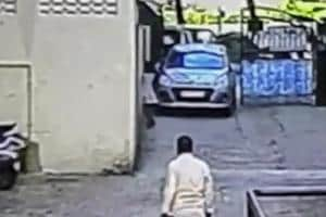9-yr-old escapes with injuries as car crushes her against wall in Navi Mumbai