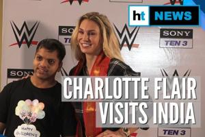 WWE's Charlotte Flair with Special Olympics Bharat team on Children's D...