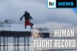 Real-life 'Iron Man' sets human flight speed record in his jet-powered ...