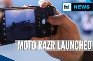 Moto Razr: Motorola launches its first foldable phone