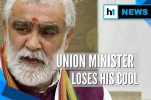 Union Minister Ashwini Choubey loses cool, lashes out at protesters