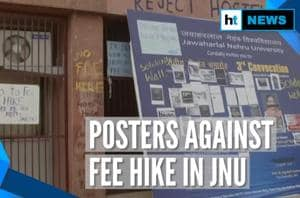 JNU protests: Posters against fee hike after students reject 'rollback'...