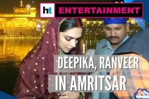 Deepika, Ranveer offer prayers at Golden Temple day after wedding anniv...