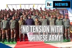 Rajnath Singh visits Bum La pass, says no tension with Chinese Army at LAC