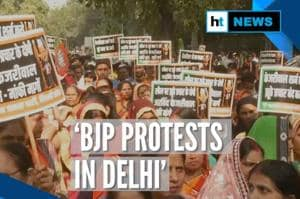 BJP protests in Delhi, demands Kejriwal's apology over Rafale allegatio...