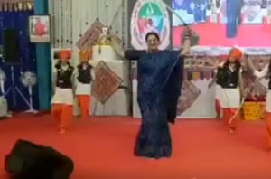 Smriti Irani performs 'Talwar Raas' with swords in Gujarat- Watch