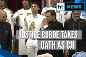 Justice SA Bobde takes oath as 47th CJI, succeeds Ranjan Gogoi
